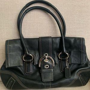 Coach black satchel. Excellent Condition!
